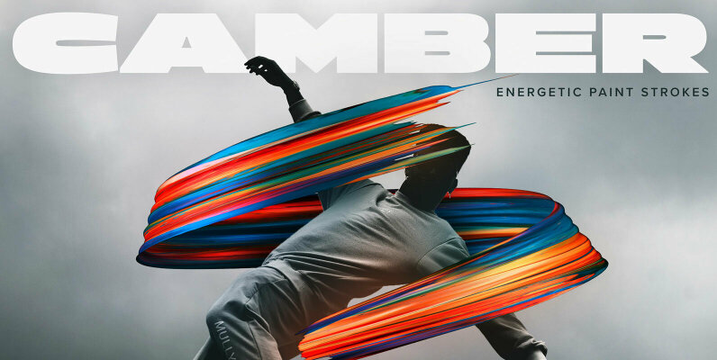 Camber     Energetic 3D Paint Strokes