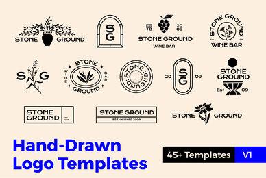 Hand Drawn Logo Templates