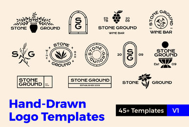Hand Drawn Logo Templates