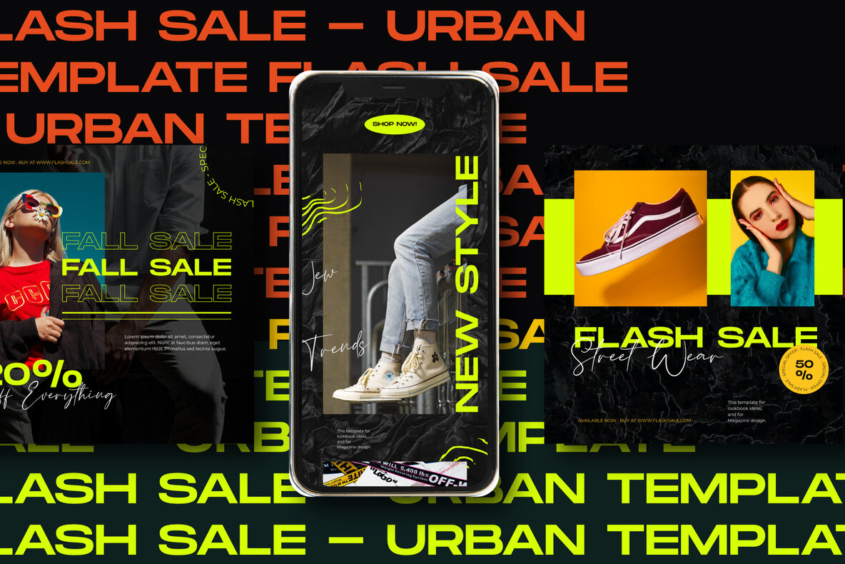 Flash Sale Instagram Post Stories