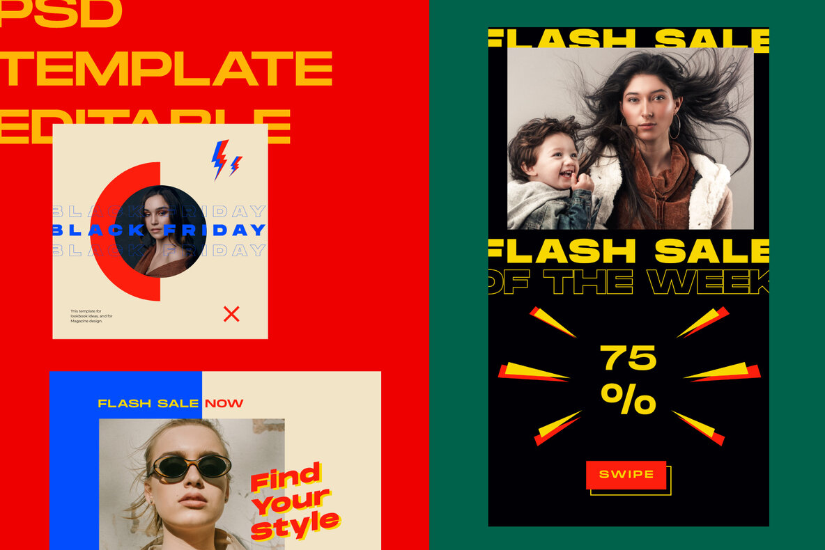 Flash Sale Instagram Post Stories Vol  2