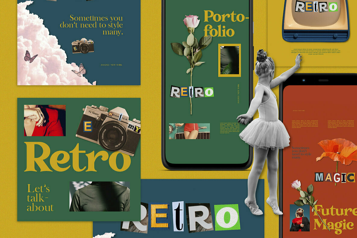 Retro Portho Instagram Post Stories