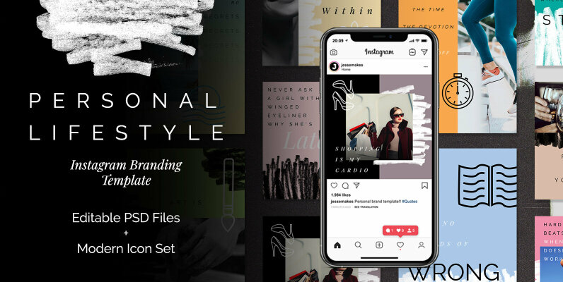 Personal Lifestyle Instagram Templates