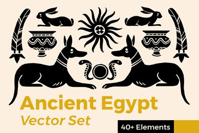 Ancient Egypt Vector Set