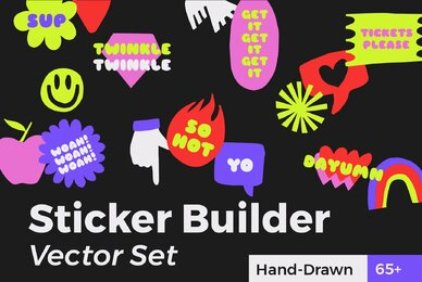 Sticker Builder Vector Set