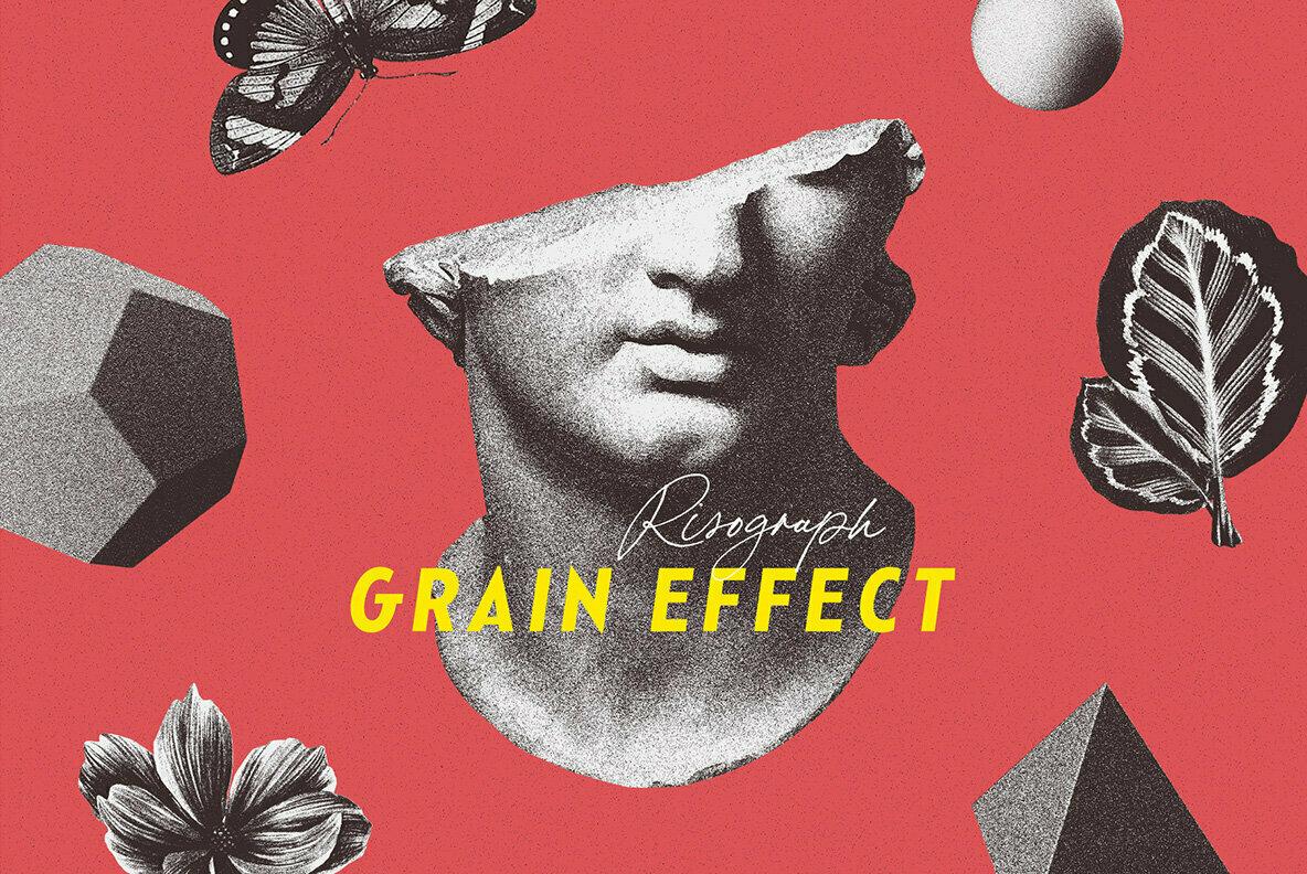 Risograph Grain Effect