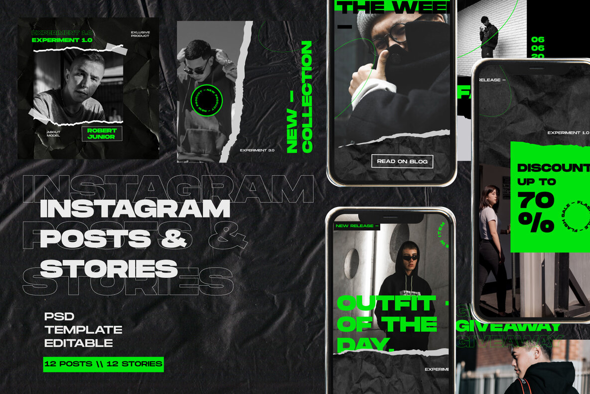 Bundle Instagram Post Stories