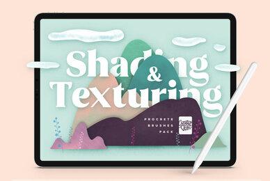 Natural Shading  Texture Procreate Brushes