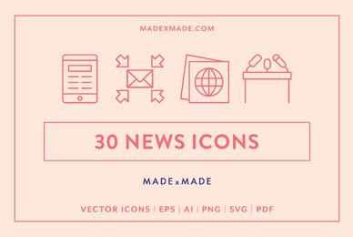 News Line Icons