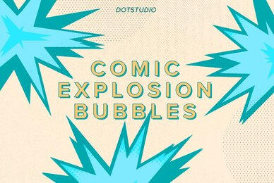 Comic Explosion Bubbles