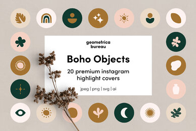 Instagram Highlight Covers Boho Objects
