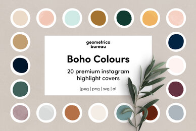 Instagram Highlight Covers Boho Colours