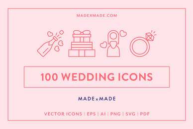 Wedding Line Icons