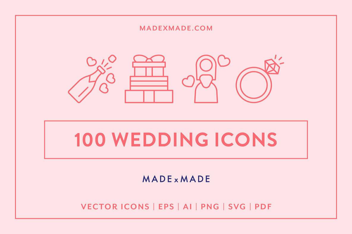 Wedding Line Icons