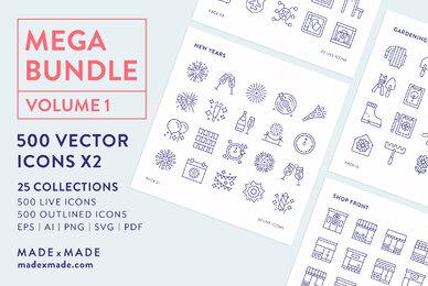 Mega Bundle Line Icons Vol 1