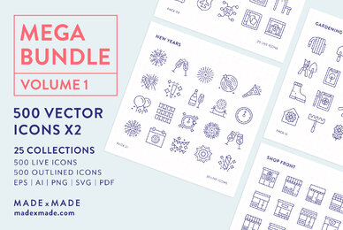 Mega Bundle Line Icons Vol 1