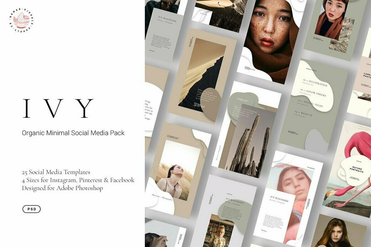 IVY   Minimal Organic Social Media Templates