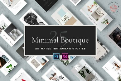 Minimal Boutique   Animated Instagram Stories