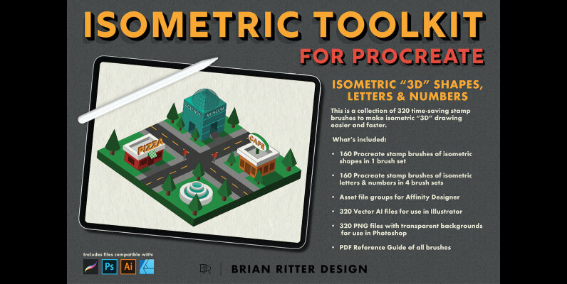 Isometric Toolkit for Procreate