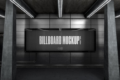 Subway Billboard Mockup   No  001