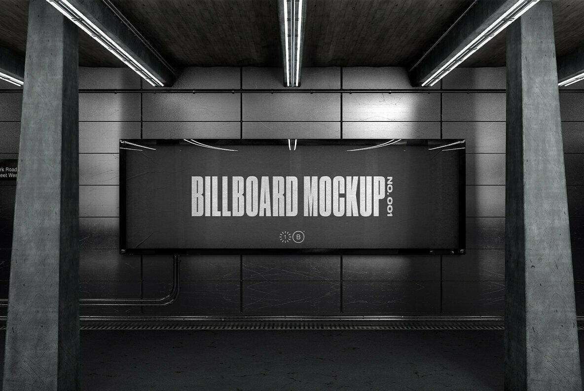 Subway Billboard Mockup   No  001