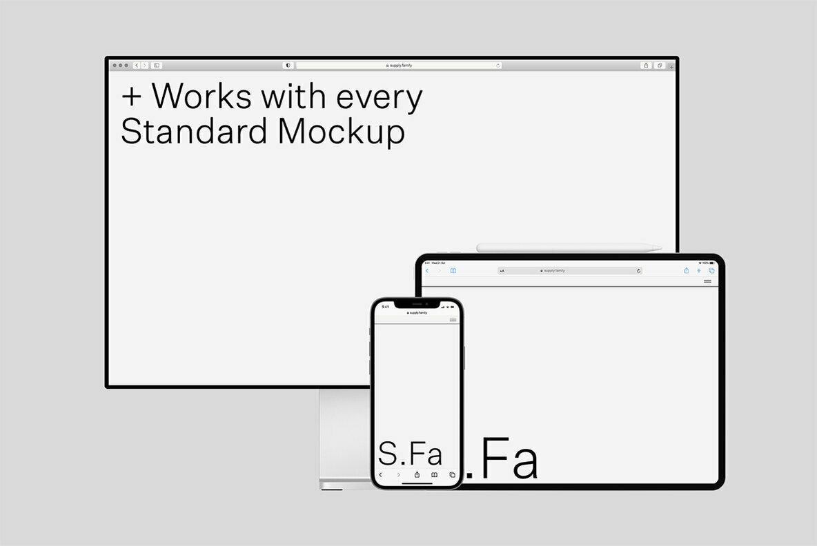 Browser Standard Mockups