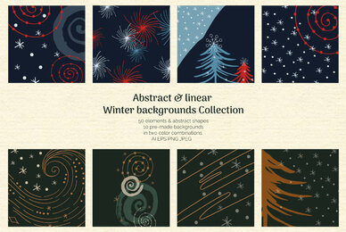 Abstract Linear Winter Background Collection