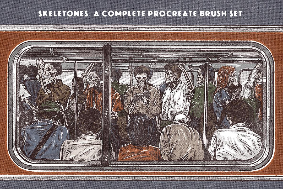 SkeleTones Procreate Brushes