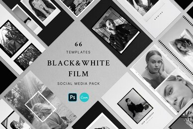 Black  White Film Frames Templates