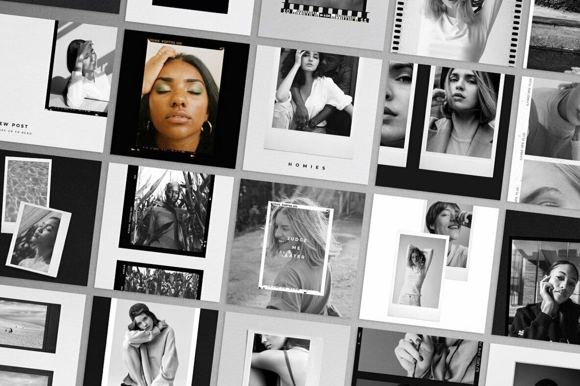Black   White Film Frames Templates