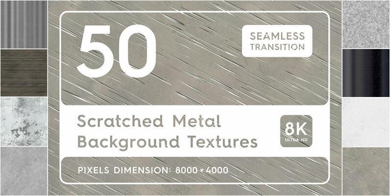 50 Scratched Metal Background Textures