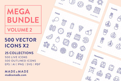 Mega Bundle Line Icons Vol 2