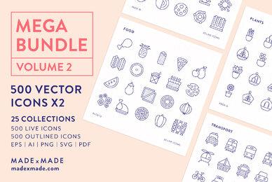 Mega Bundle Line Icons Vol 2