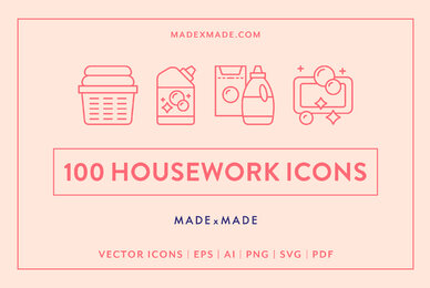 Housework Line Icons