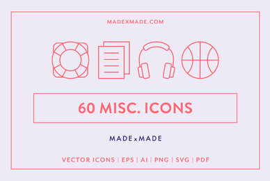 Miscellaneous Line Icons