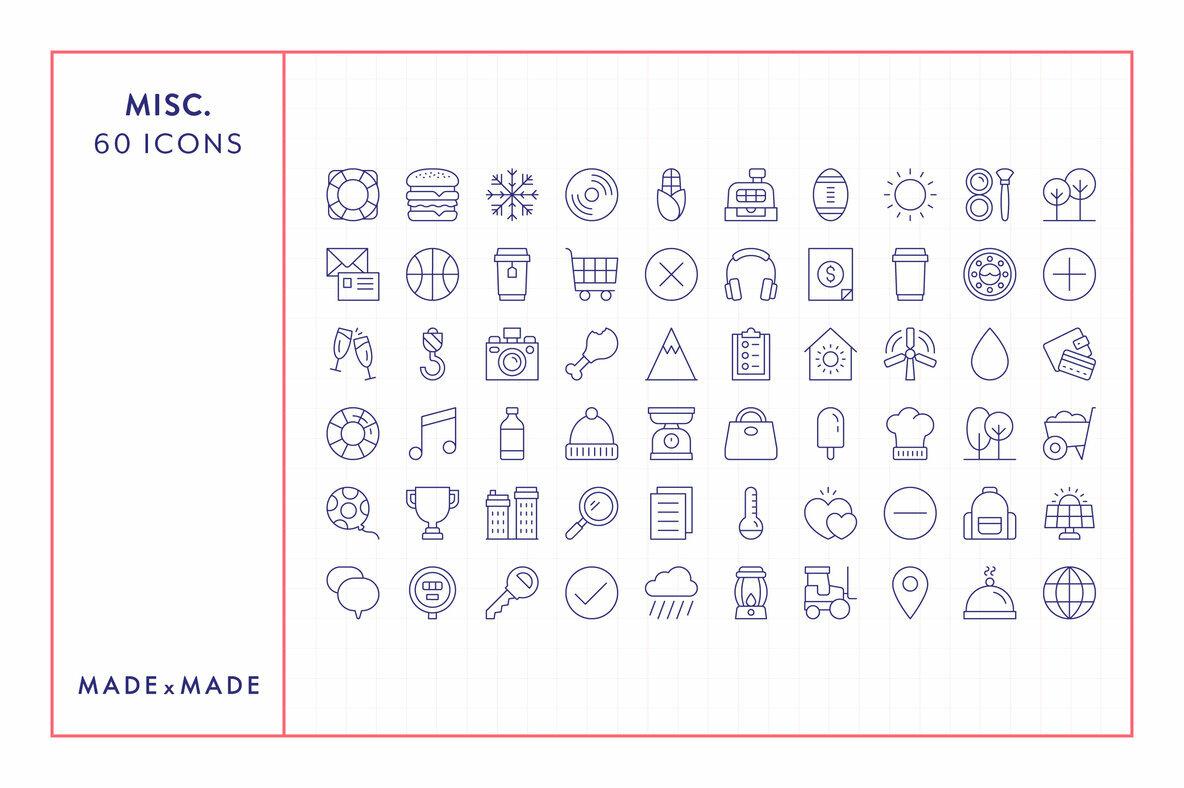 Miscellaneous Line Icons