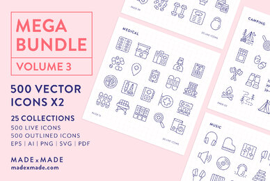 Mega Bundle Line Icons Vol 3