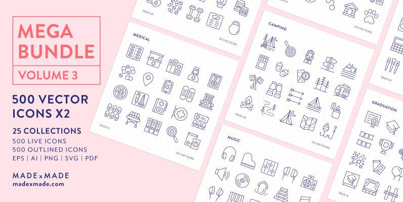 Mega Bundle Line Icons Vol 3