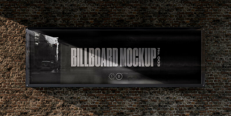 Bridge Brick Wall Billboard Mockup   No  003