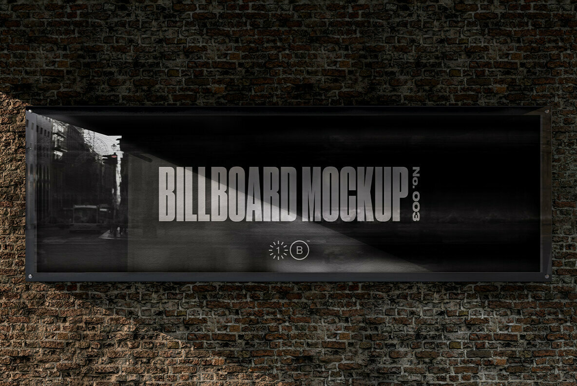 Bridge Brick Wall Billboard Mockup   No  003
