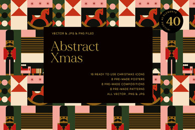 Abstract Christmas Set