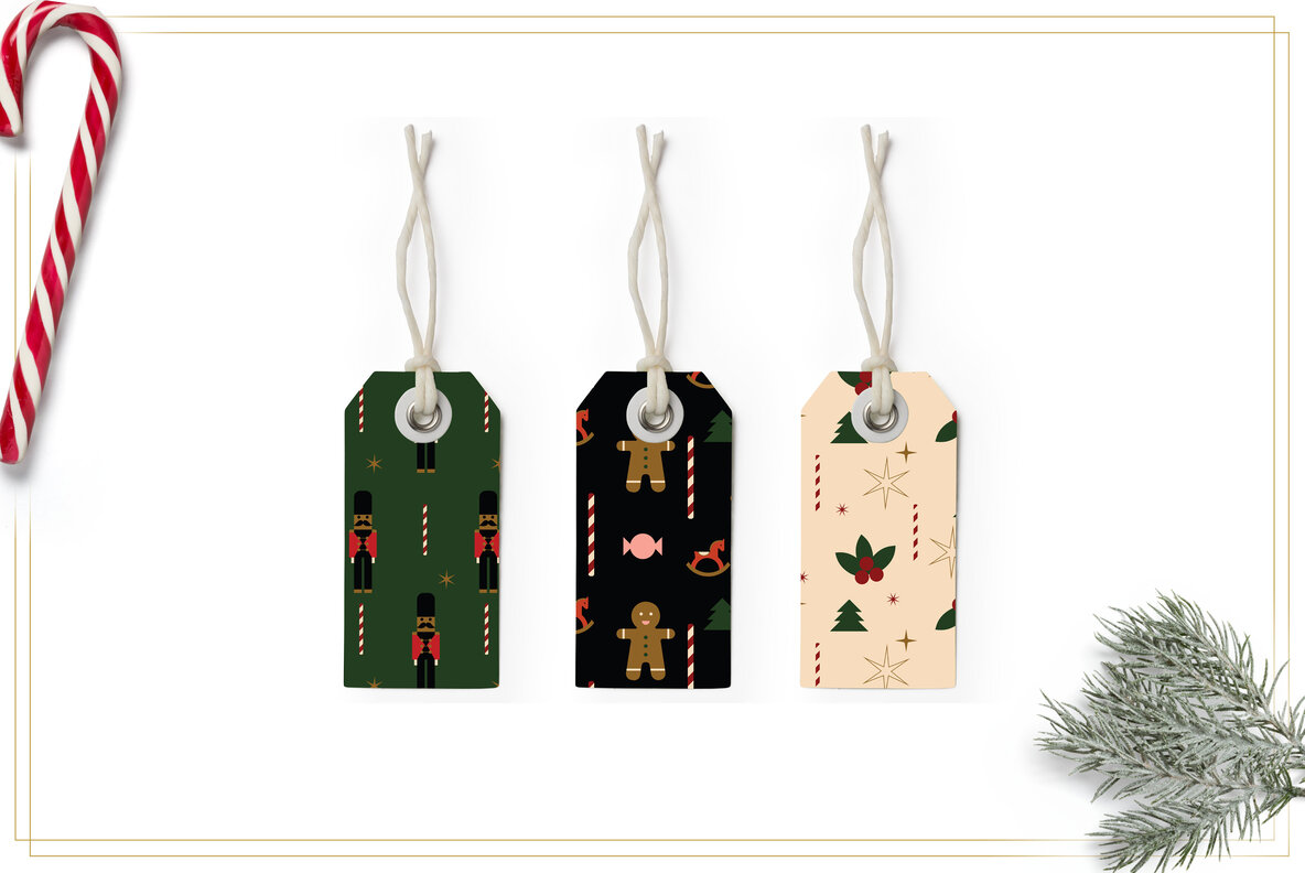 Abstract Christmas Set
