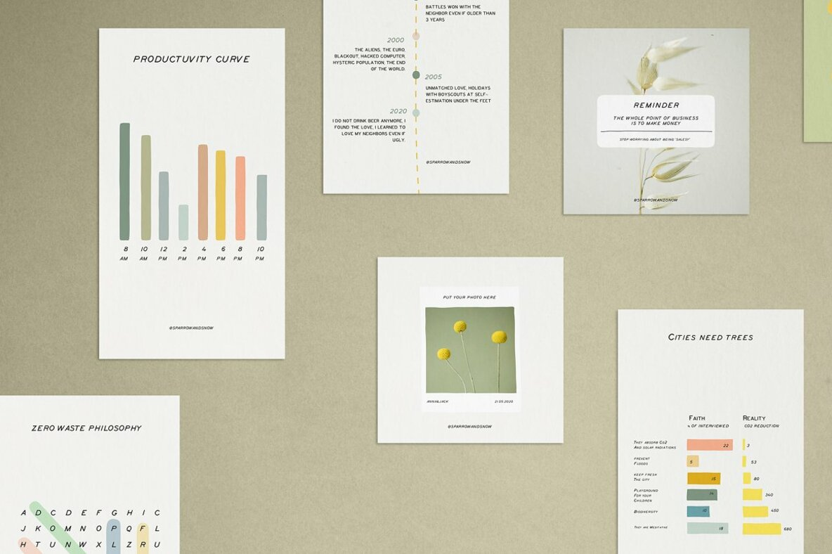 Charts and Graphs Social Kit