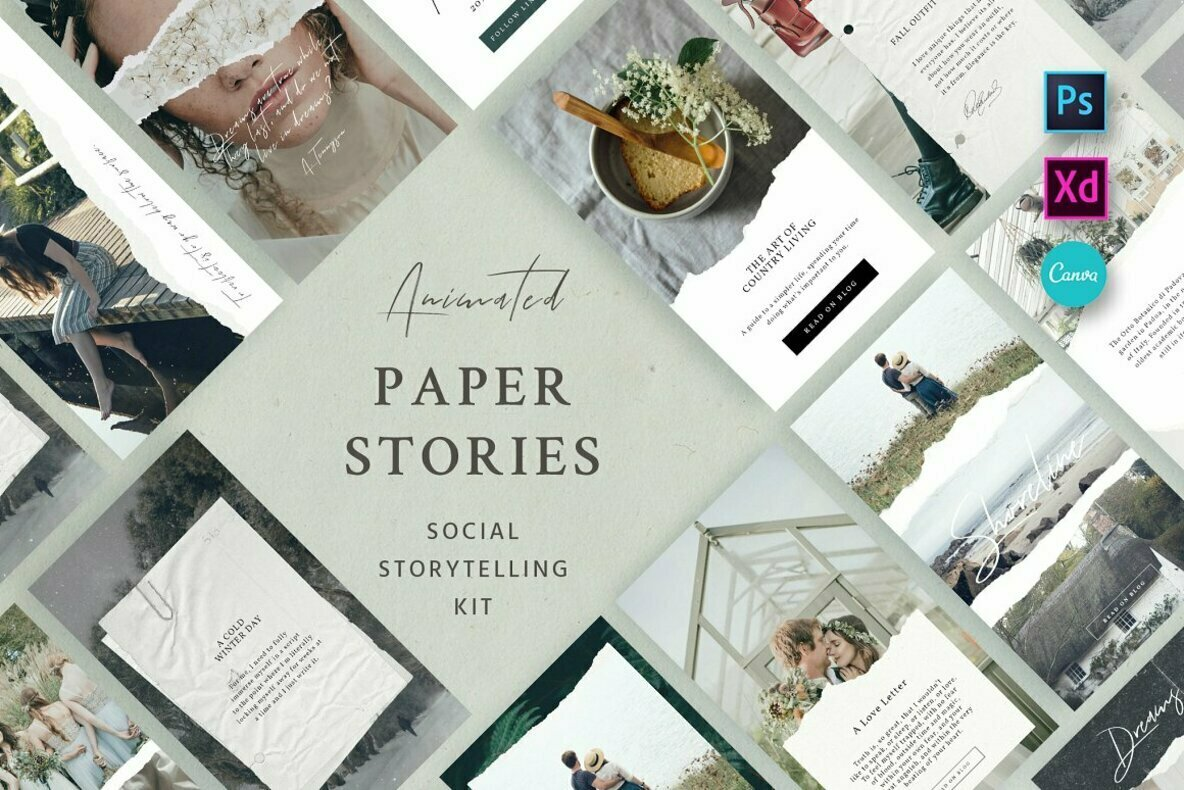 Paper Animated Stories   Social kit