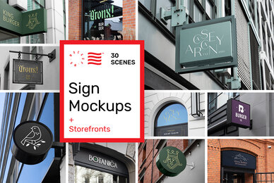 Sign and Storefront Mockups