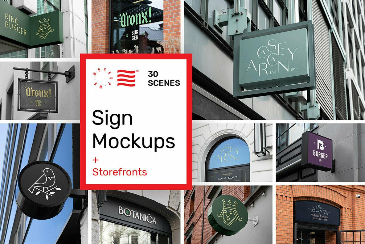 Sign and Storefront Mockups