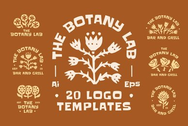 The Botany Lab Logo Templates