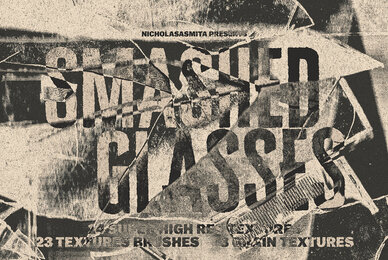 Smashed Glasses Textures and Brushes