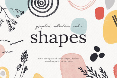 Abstract Shapes Print Graphics Vol 1