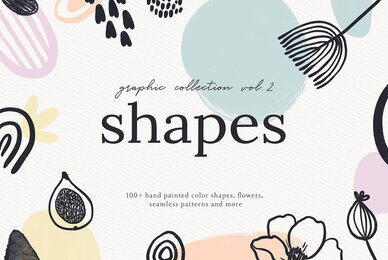 Abstract Shapes Print Graphics Vol 2